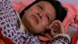 Liu Xinwen was forcibly aborted at six months of pregnancy.  Photo credit:  Sky News