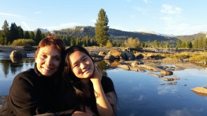 Reggie Littlejohn and her daughter, Anni, the daughter of Zhang Lin, in Yosemite, 2015.