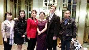 Jing Zhang (no relation), Ruli Zhang (Anni's older sister), Reggie Littlejohn, Anni Zhang, Robert (Reggie's husband), Yao Cheng